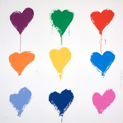 All You Need is He(ART) Medium by Mr. Brainwash - Silk Screen Edition sized 22x22 inches. Available from Whitewall Galleries